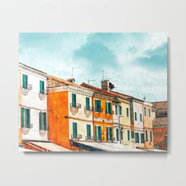 Burano Island #painting #digitalart #travel Metal Print