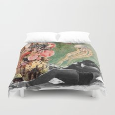 First Kiss Underwater Duvet Cover