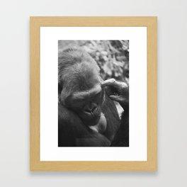 THE THINKER. Framed Art Print
