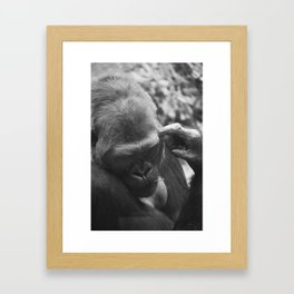 THE THINKER. Framed Art Print