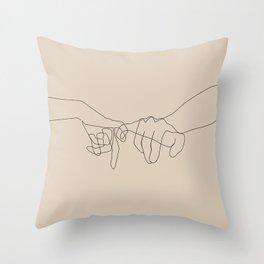 Beige Pinky Throw Pillow