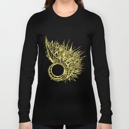 GOLDEN CURL - SHINING PAINTING ON BLACK BACKGROUND Long Sleeve T-shirt