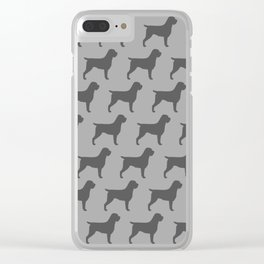 Wirehaired Pointing Griffon Silhouette Clear iPhone Case