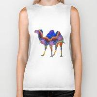 camel Biker Tanks featuring Camel by haroulita