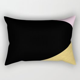 Color Block Glam Triangles Rectangular Pillow