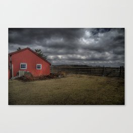 The coming storm front Canvas Print
