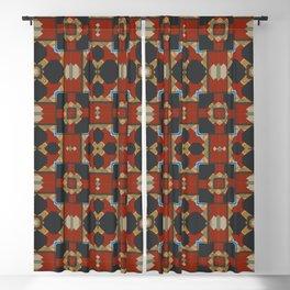 Aztec Multi Pattern Design Blackout Curtain