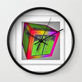 Gift Wrapped Wall Clock