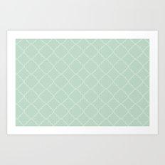 Quatrefoil - Mint Art Print