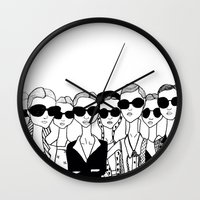 vogue Wall Clocks featuring Vogue by Rosalia Mendoza