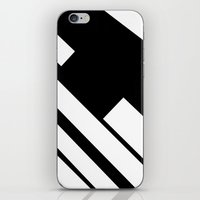 stripe iPhone & iPod Skins featuring stripe by noirblanc777