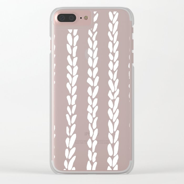 Knit 8 Clear iPhone Case