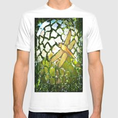 Fly High Dragonfly. Mens Fitted Tee White MEDIUM