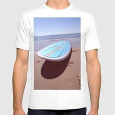 Hang Loose.  MEDIUM Mens Fitted Tee White