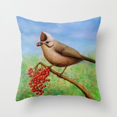 Taiwan Yuhina  Throw Pillow