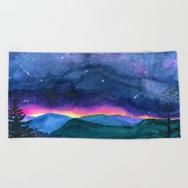 Good Night Smoky Mountains Beach Towel