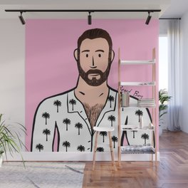 Beard Boy: David Wall Mural