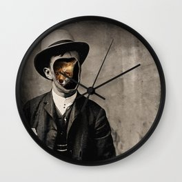 Gentleman Fox Wall Clock