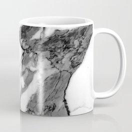 Pearl White Marble With Black Avant-Garde Veins Coffee Mug