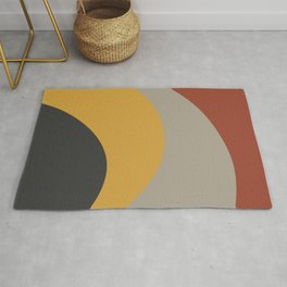 Colorful curves Rug