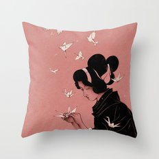 Becoming the Birds Throw Pillow