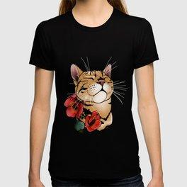 cat tattoo style T-shirt