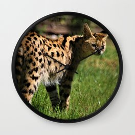 Sleek Serval Wall Clock