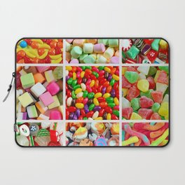 Colorful candy collage Laptop Sleeve