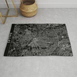Dallas Black Map Rug