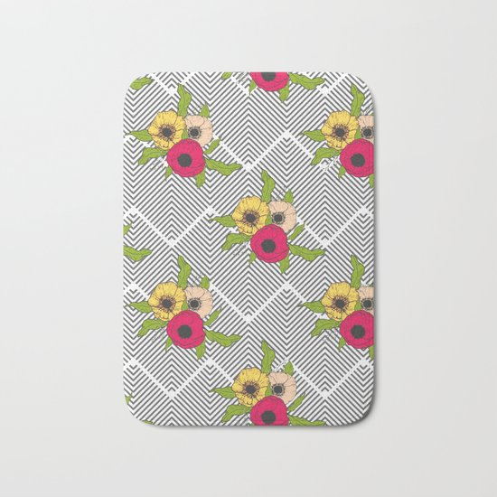 Geometric Garden #society6 #decor #buyart Bath Mat