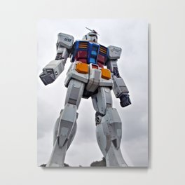 Mobile Suit Gundam Metal Print