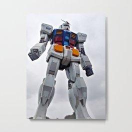 Mobile Suit Gundam Metal Print