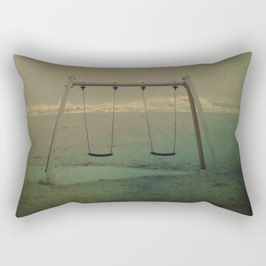 Forgotten swings Rectangular Pillow