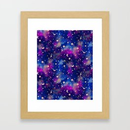Zodiac - Watercolor Dark Framed Art Print