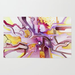 Sunberry - Abstract Southwest Watercolor Painting Rug