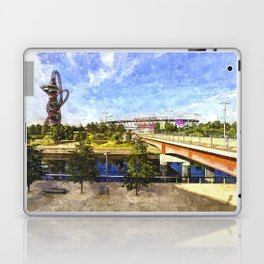 West Ham Olympic Stadium And The Arcelormittal Orbit Art Laptop & iPad Skin