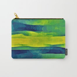 Acid Yellow and Indigo Abstract Carry-All Pouch