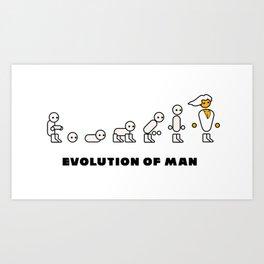 Evolution of Man PC master race Art Print