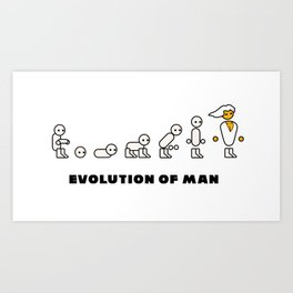 Evolution of Man PC master race Art Print