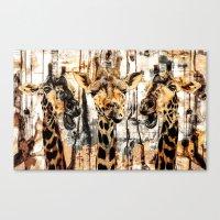 giraffes Canvas Prints featuring Giraffes by RIZA PEKER