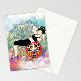 Fitness girl Japanese Traditional girl style Stationery Cards