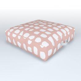 Dots / Pink Outdoor Floor Cushion