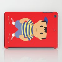 earthbound iPad Cases featuring Ness - Earthbound - Super Smash Brothers - Minimalist by Adrian Mentus