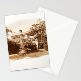 Vintage Sketched House in Sepia Stationery Cards