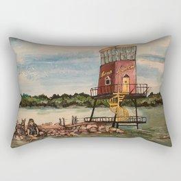 Dock on Sandusky Bay Rectangular Pillow