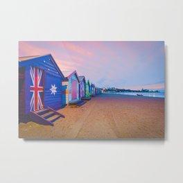 Beautiful Brighton boat houses at sunrise, Melbourne, Australia Metal Print