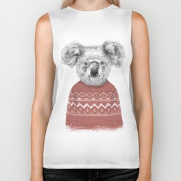Winter koala (red) Biker Tank
