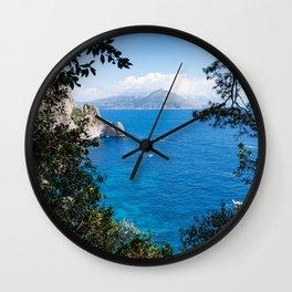 Ischia Island seen from Capri, Italy Wall Clock