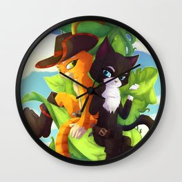 Puss In Boots Kitty Softpaws Wall Clock