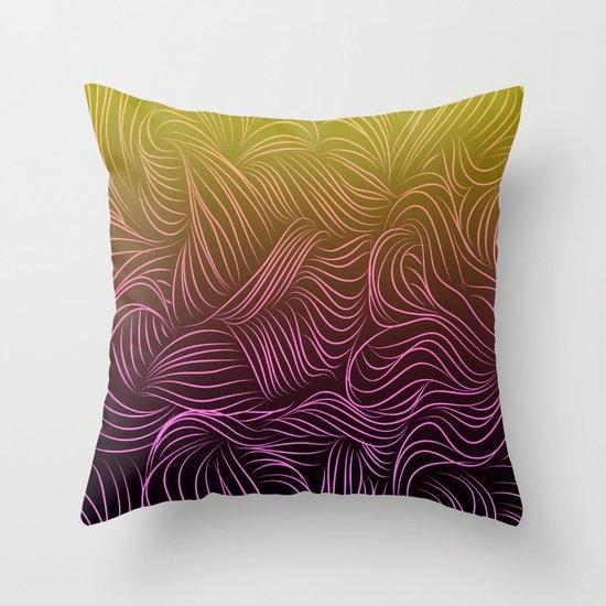 Ombre Hair Design Throw Pillow